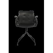BENT HANSEN PRIMUM CHAIR - stol / sort drejestel med armlæn