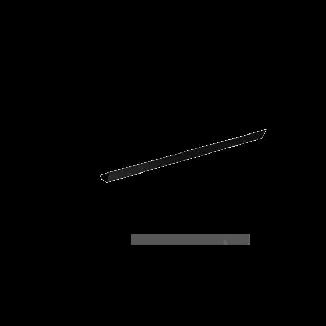 Kabelbakke til Hæve sænkebord 147 cm. Grå, Hvid eller Sort lakeret.