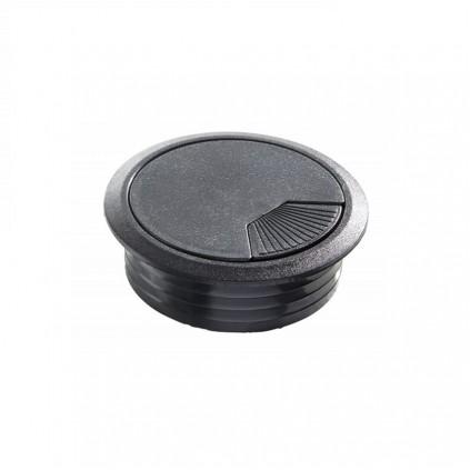 Kabelgennemføring i sort plast Ø 80 mm
