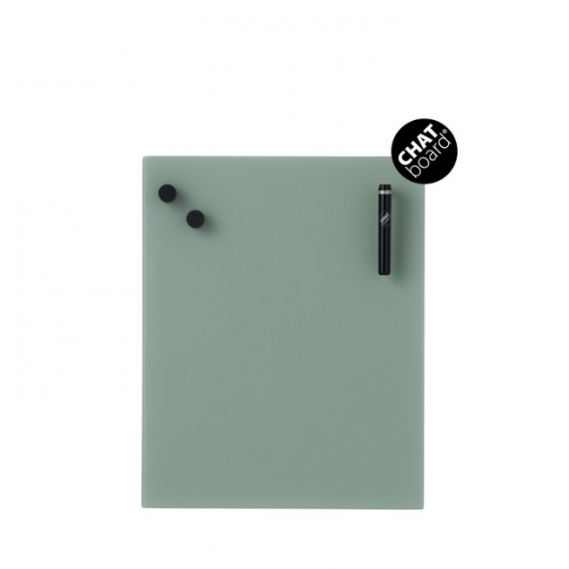 Chat Board Classic Magnetisk Glastavle - Army Green 37