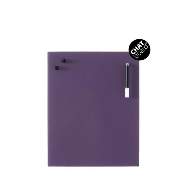 Chat Board Classic Magnetisk Glastavle - Aubergine 8