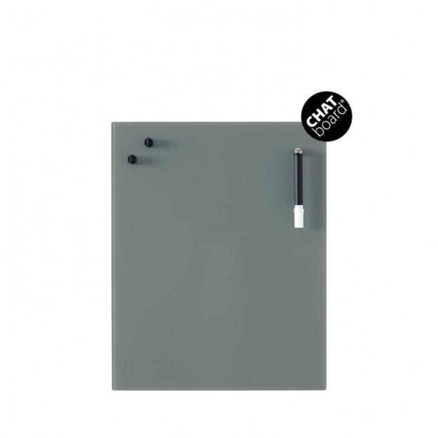 Chat Board Classic Magnetisk Glastavle - Dark Grey 17
