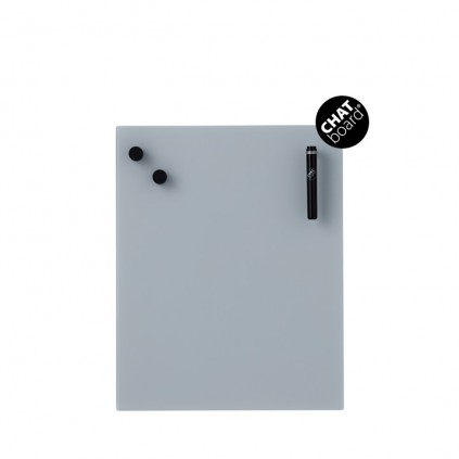 Chat Board Classic Magnetisk Glastavle - Grey 5