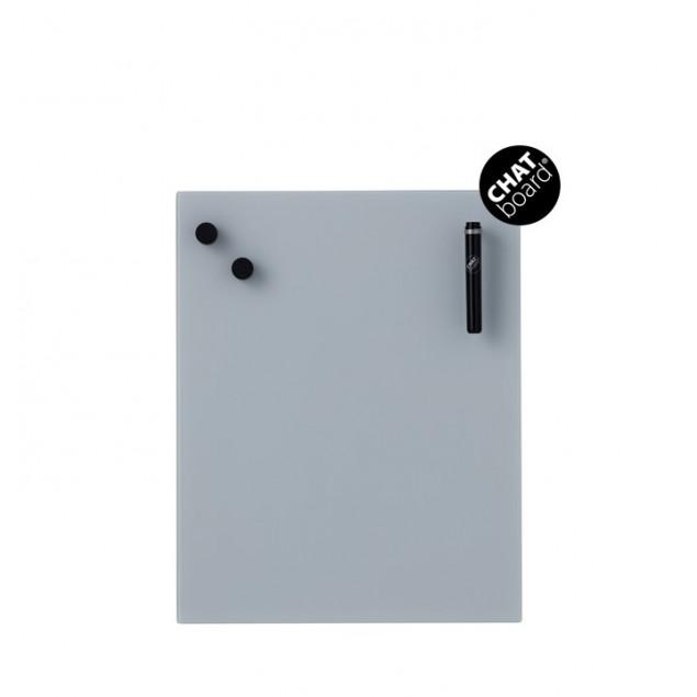 Chat Board Classic Magnetisk Glastavle - Grey 5