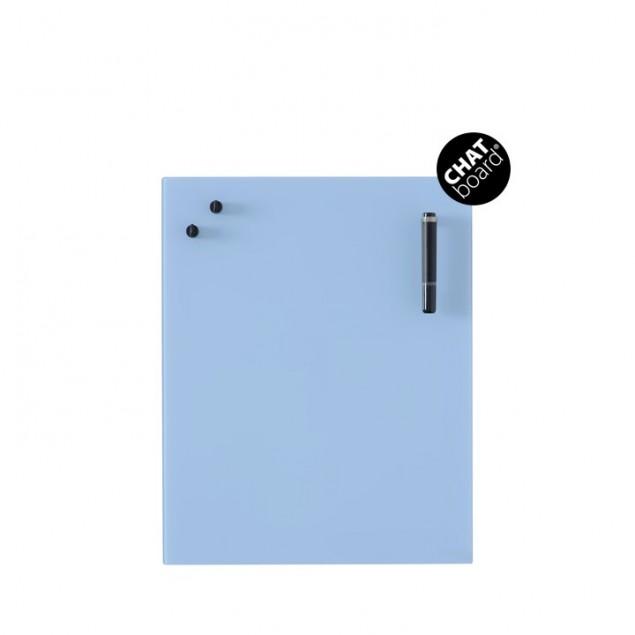 Chat Board Classic Magnetisk Glastavle - Sky Blue 39