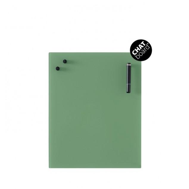 Chat Board Classic Magnetisk Glastavle - Leaf Green 16