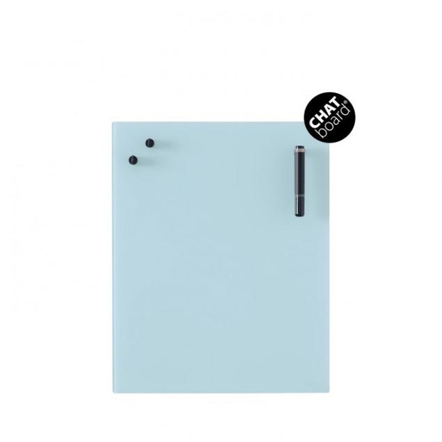 Chat Board Classic Magnetisk Glastavle - Light Blue 15