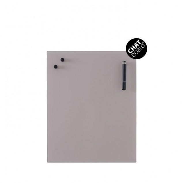 Chat Board Classic Magnetisk Glastavle - Metal Taupe 9