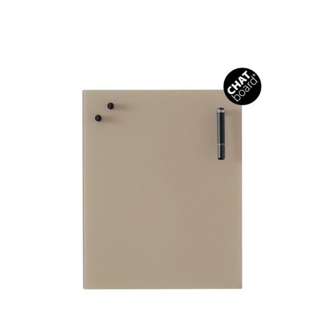 Chat Board Classic Magnetisk Glastavle - Mocca 12