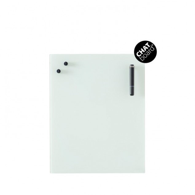 Chat Board Classic Magnetisk Glastavle - Opal White
