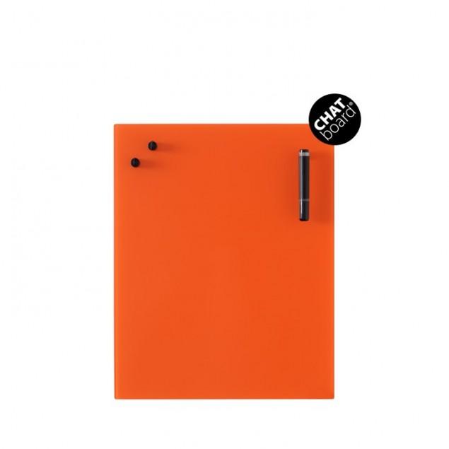 Chat Board Classic Magnetisk Glastavle - Orange 10