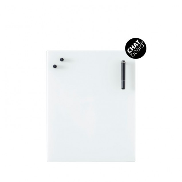 Chat Board Classic Magnetisk Glastavle - Pure White (HVID)
