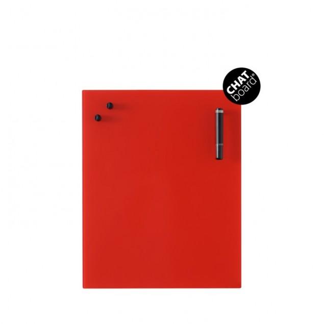 Chat Board Classic Magnetisk Glastavle - Red 11