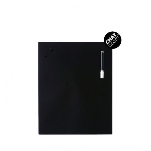 Chat Board Classic Magnetisk Glastavle - Black 18