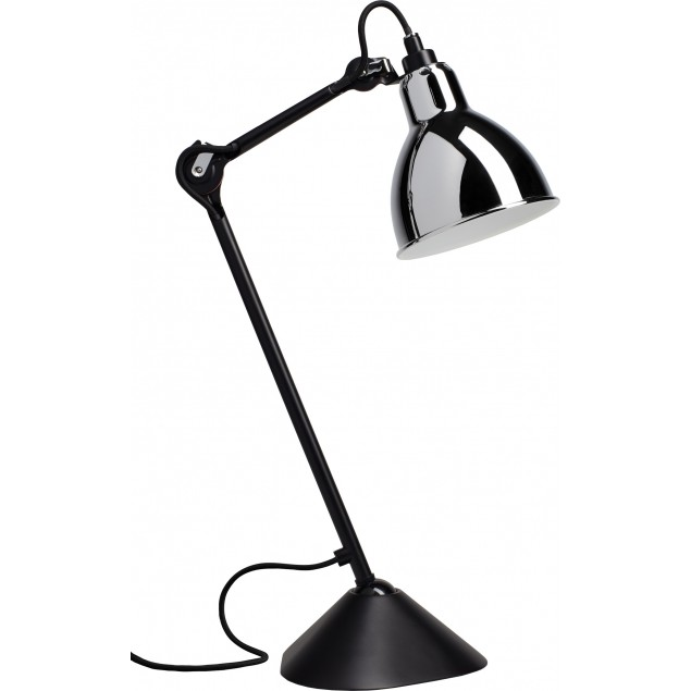 Lampe Gras NO205 bordlampe, sort-krom