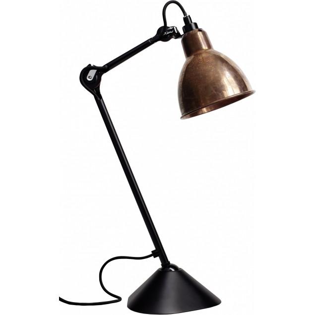 Lampe Gras NO205 bordlampe, sort-kobber-Raw-hvid