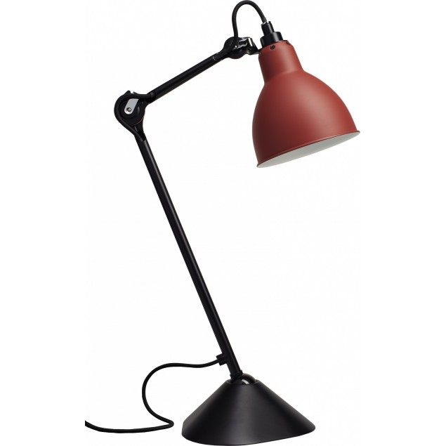 Lampe Gras NO205 bordlampe, sort-rød