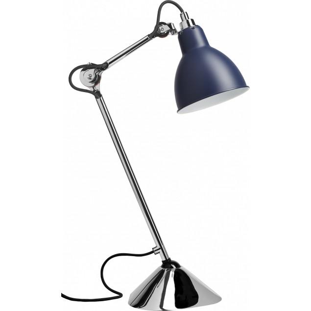 Lampe Gras NO205 bordlampe, krom-sort blå