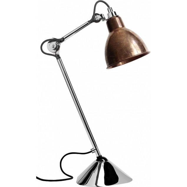 Lampe Gras NO205 bordlampe, krom-kobber-Raw