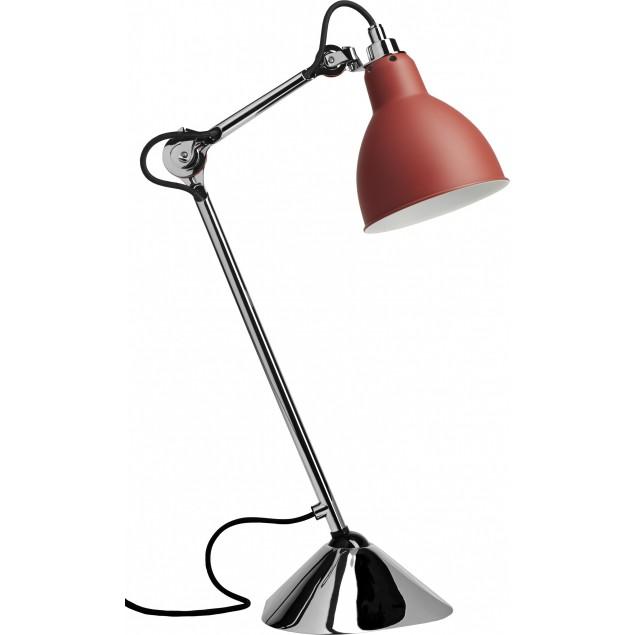 Lampe Gras NO205 bordlampe, krom-rød