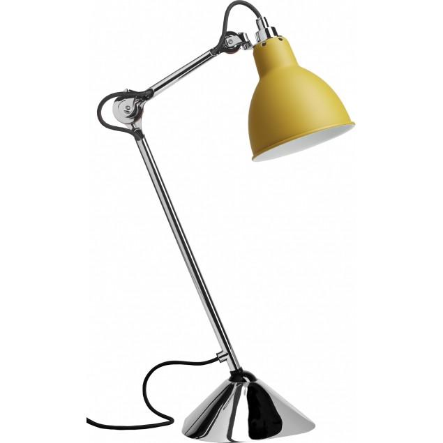 Lampe Gras NO205 bordlampe, krom-gul