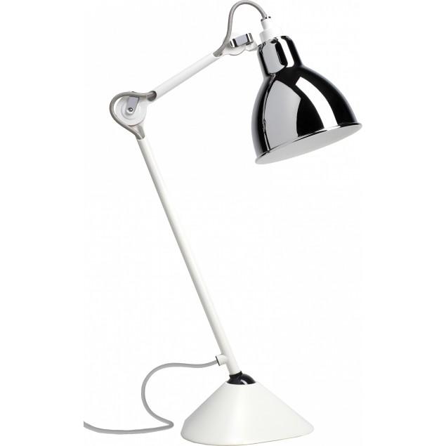 Lampe Gras NO205 bordlampe, hvid-krom