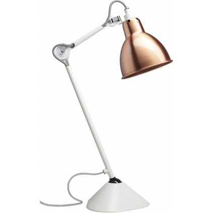 Lampe Gras NO205 bordlampe, hvid-kobber