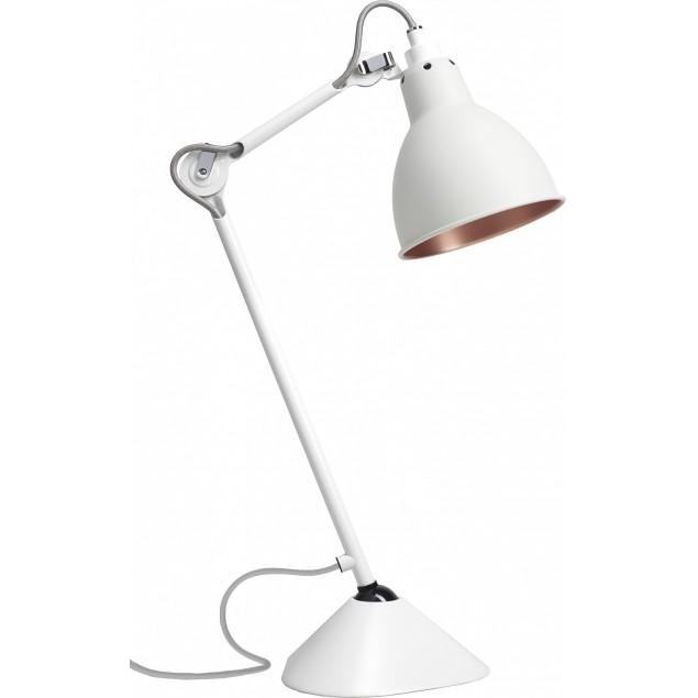 Lampe Gras NO205 bordlampe, hvid-hvid-kobber