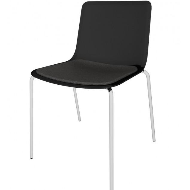 FREDERICIA PATO 4201 stol sort skal sædepolstring sort Fame 4 ben
