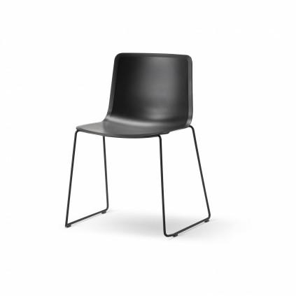 FREDERICIA PATO 4100 stol sort skal medestel