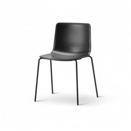 FREDERICIA PATO 4200 stol sort skal med 4 ben