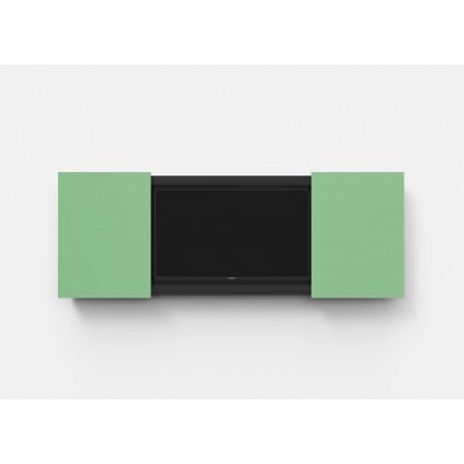 Mood Conference, konferenceskab med glastavle til TV 1685 x 1143 mm. Vælg mellem 24 farver.