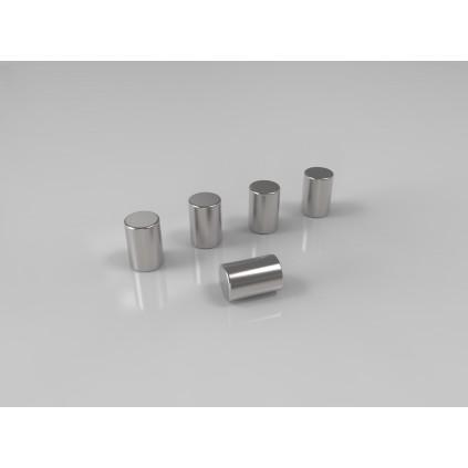 Magneter, mat krom 5-pak. Til Mood glastavler