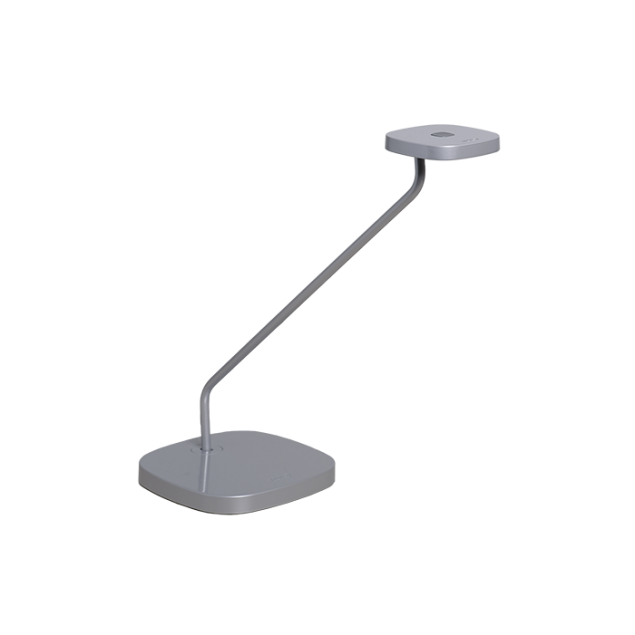 LUXO Trace LED bordlampe med bordfod. Grå.