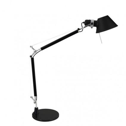 ARTEMIDE TOLOMEO - Bordlampe / sort med bordfod