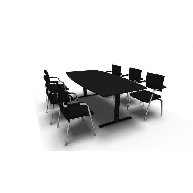 Leje af mødebord 180x90 cm og 6 stole. Prisen er pr sæt pr. måned.