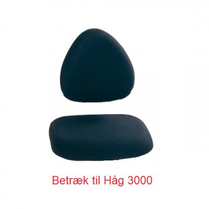 Håg 3000 komplet sæde/ryg betræk i sort Fame 60999