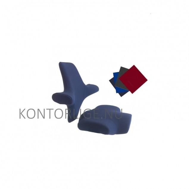 Comfort betræk til HÅG Capisco 8106. Stof til sæde og ryg. Flere farver.
