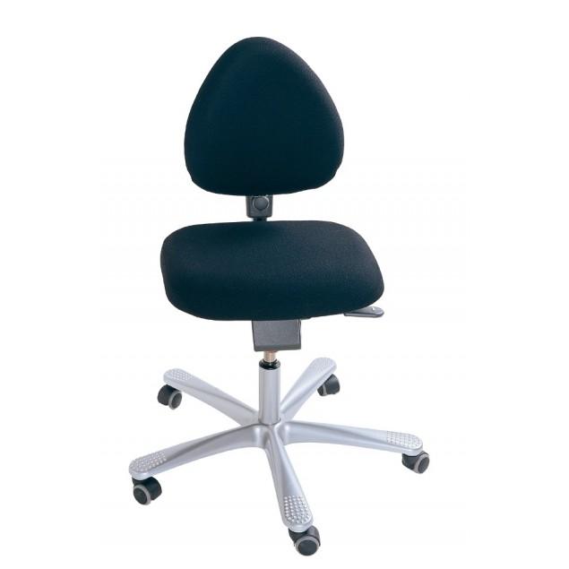 Renoveret HÅG 4000 kontorstol med nyt sort Fame betræk