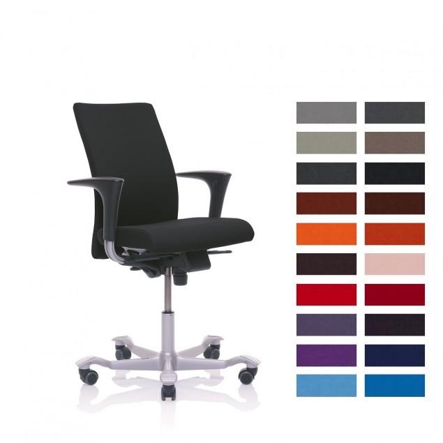 HÅG 4400 H04 kontorstol med Fame betræk, vælg farve. Medium ryghøjde. Udgår i 2019.