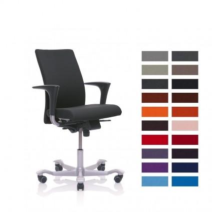 HÅG 4600 H04 kontorstol med Fame betræk med høj ryg, vælg farve. Udgår ultimo 2019.