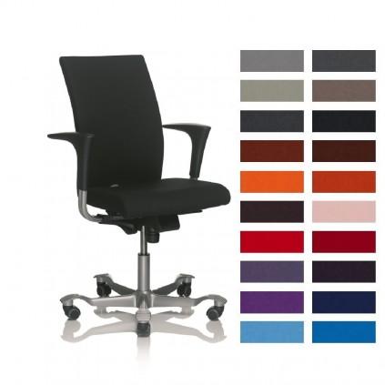 HÅG 4650 H04 kontorstol. Ekstra bredt sæde og ryg, med Fame betræk, vælg farve. Udgår i 2019.