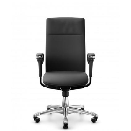 HÅG Tribute 9021 med sort læder. Topmodellen i HÅG Executive kontorstoleserien.