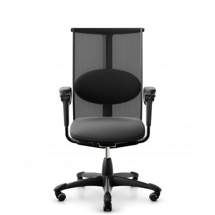 HÅG Inspiration 9221 kontorstol. Med netryg og lædersæde.