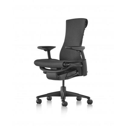 Herman Miller Embody kontorstol med armlæn, Graphite stel