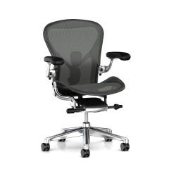 Kontorstol til de varme dage på kontoret. Prøv en stol med sæde og ryg af net.