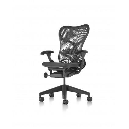 Herman Miller Mirra 2 kontorstol, graphite triflex ryg og stel