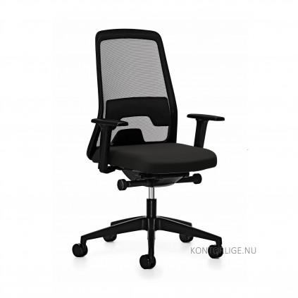 EVERY kontorstol med sort betræk model is1 172E. Vælg med eller uden armlæn.