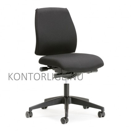 Workline synkron kontorstol, sort betræk