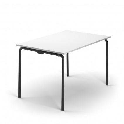 120x80 cm TUBE kantinebord. Med fast stel (STAY) eller som foldebord (Fold)